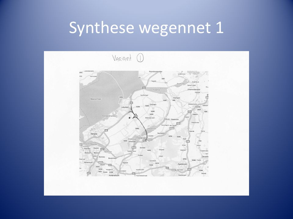 Synthese wegennet 1