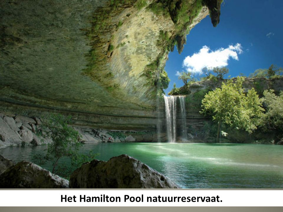 Het Hamilton Pool natuurreservaat.