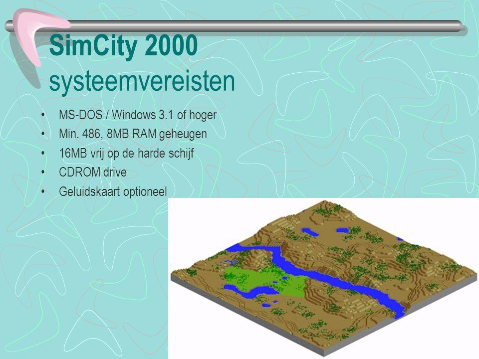 SimCity 2000 systeemvereisten
