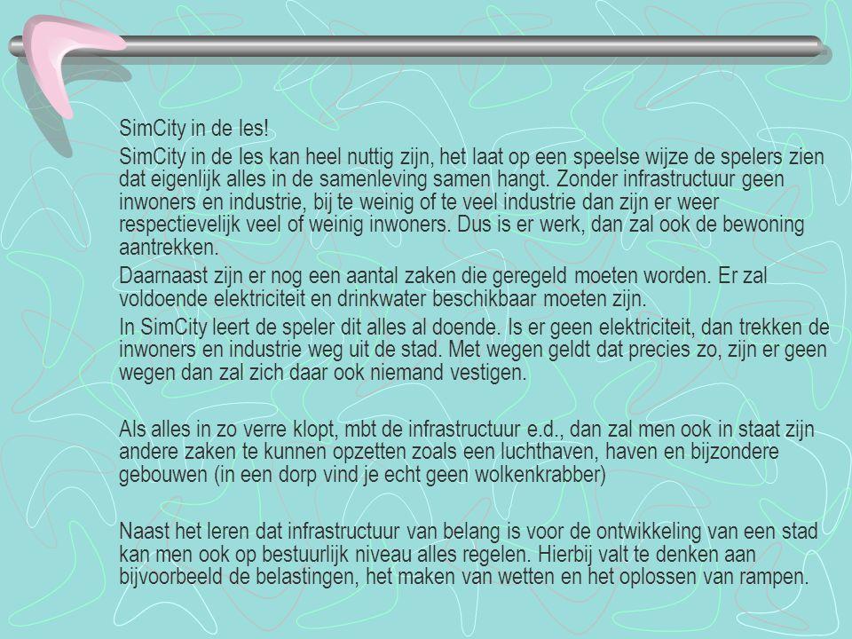 SimCity in de les!