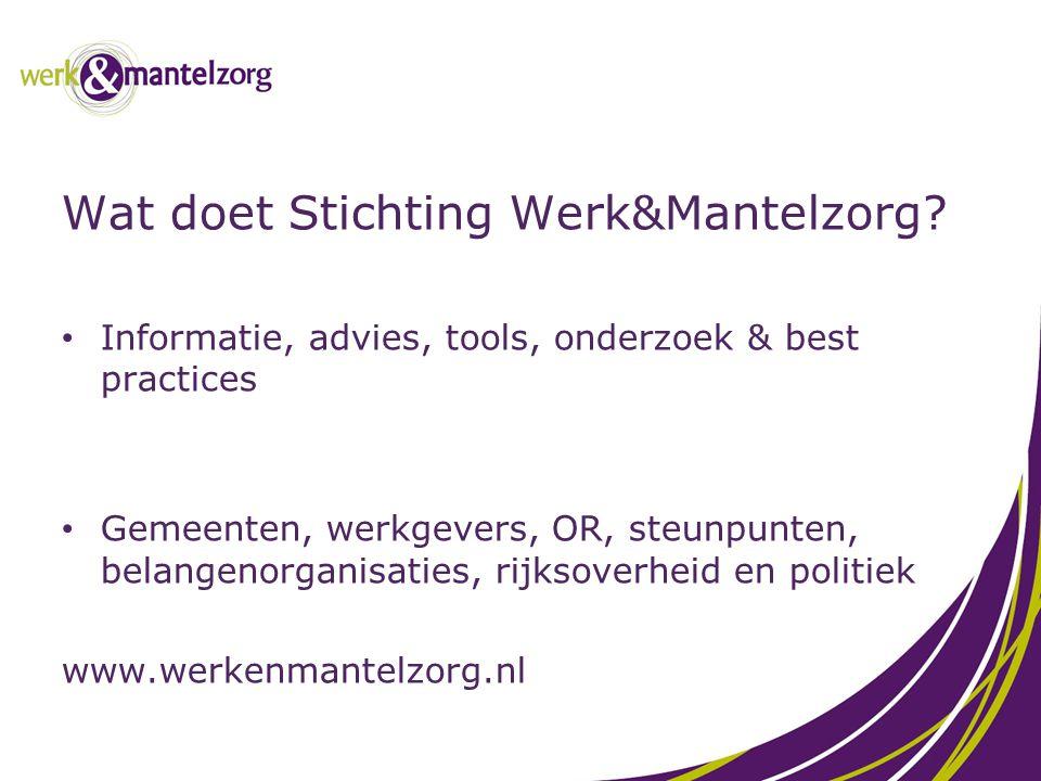 Wat doet Stichting Werk&Mantelzorg