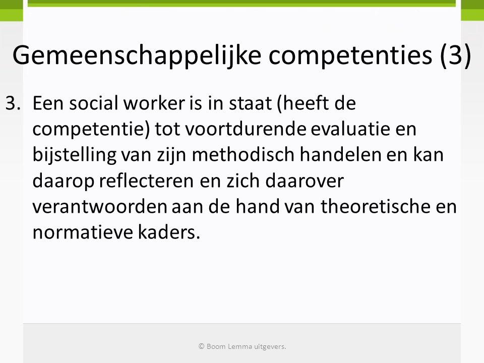 Gemeenschappelijke competenties (3)