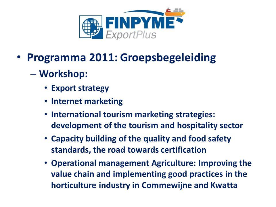 Programma 2011: Groepsbegeleiding