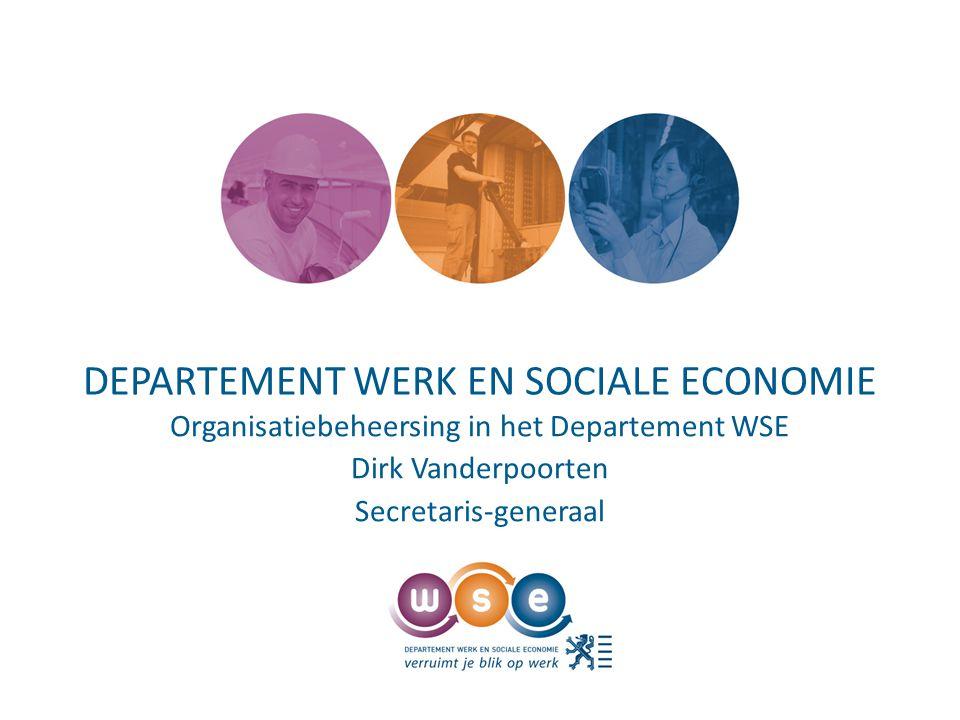 Presentatie voorstelling Departement WSE