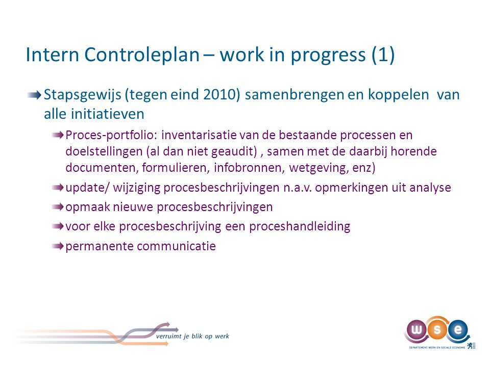 Intern Controleplan – work in progress (2)