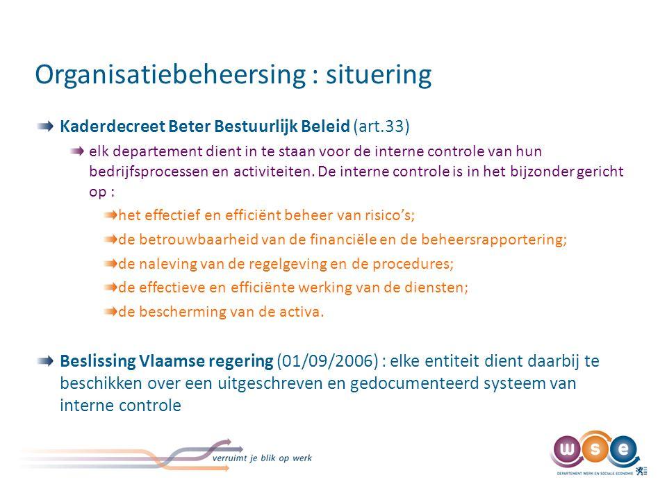 Wat wordt verwacht behalen van maturiteitsniveau 3 in het kader van organisatiebeheersing (einde 2010)