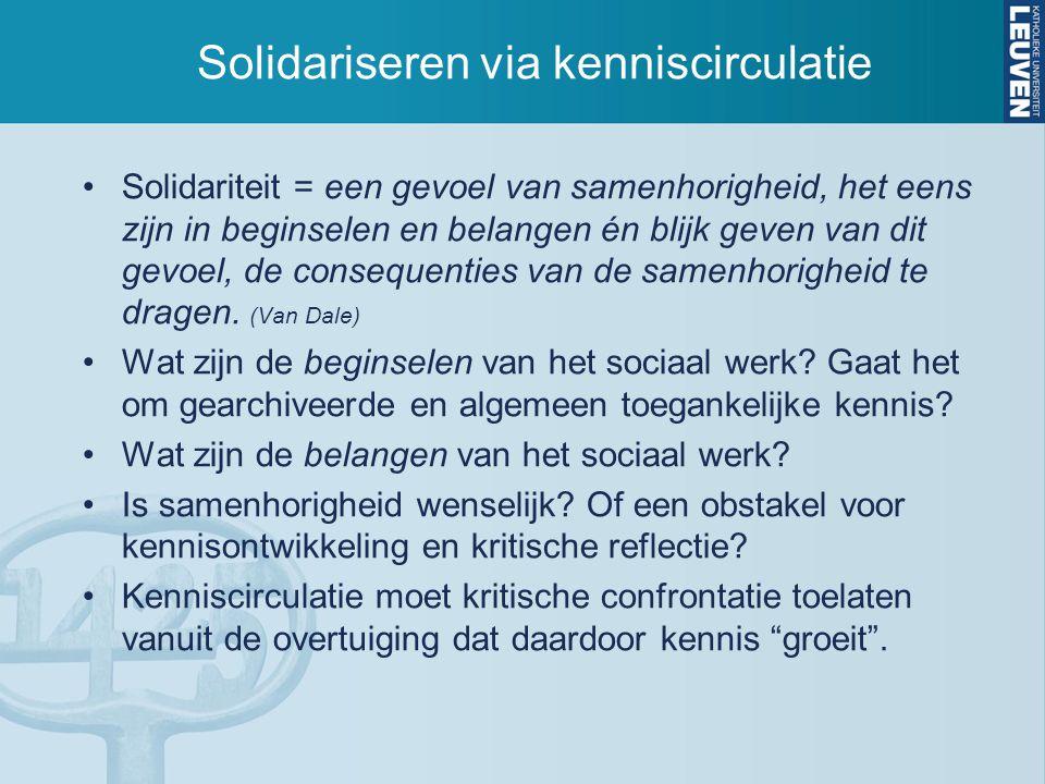 Solidariseren via kenniscirculatie