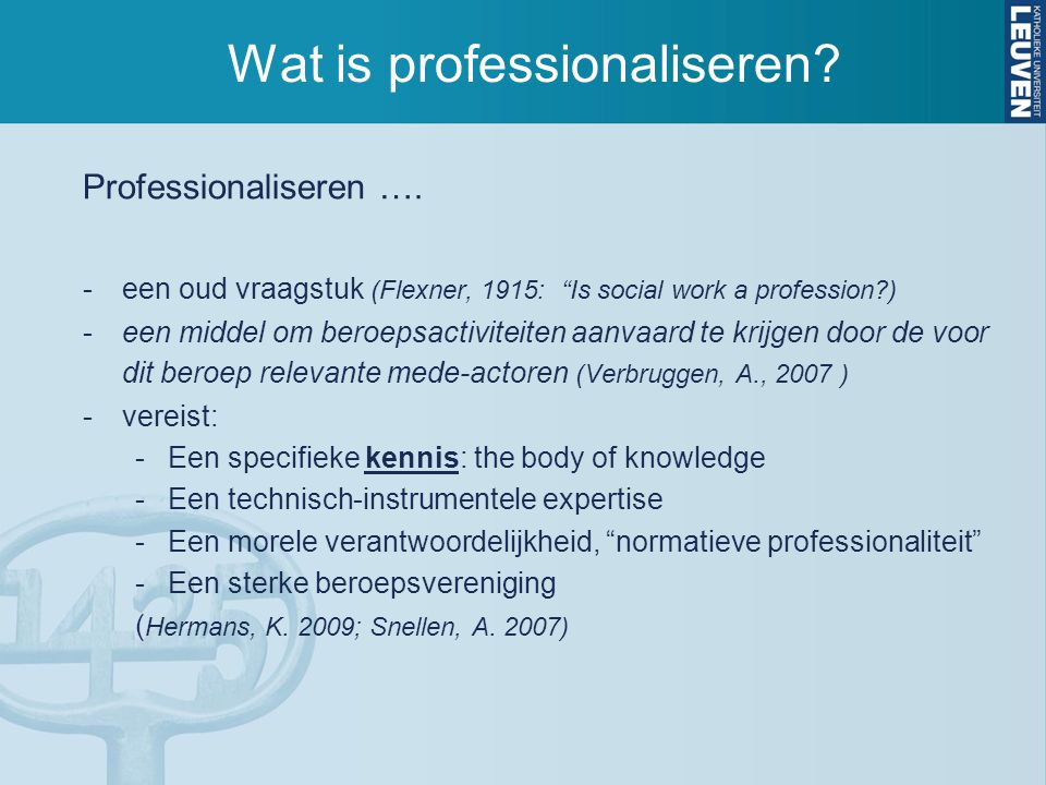 Wat is professionaliseren