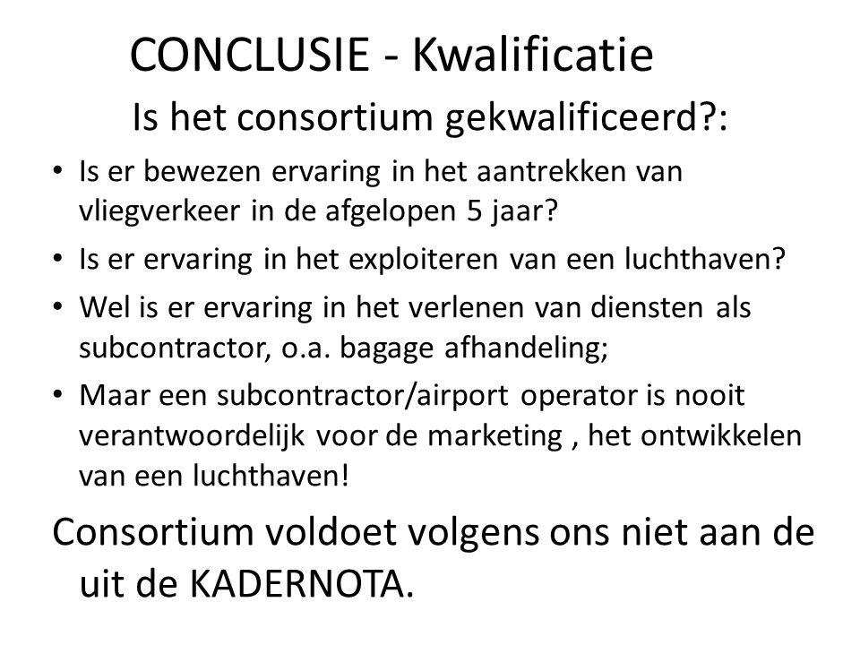 CONCLUSIE - Kwalificatie
