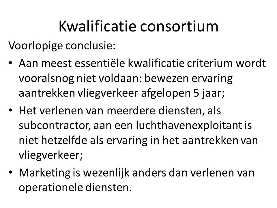 Kwalificatie consortium