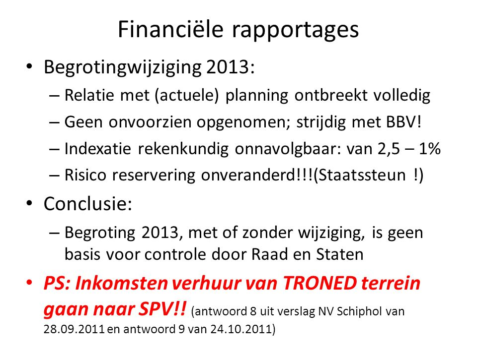 Financiële rapportages