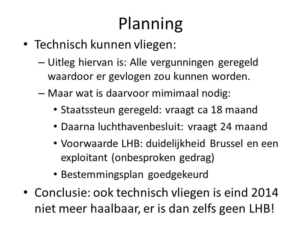 Planning Technisch kunnen vliegen: