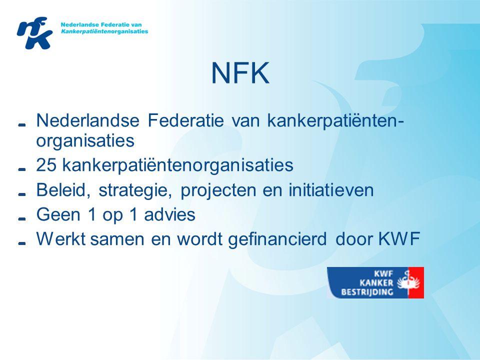 NFK Nederlandse Federatie van kankerpatiënten-organisaties