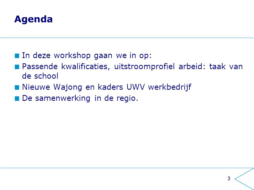 Agenda In deze workshop gaan we in op: