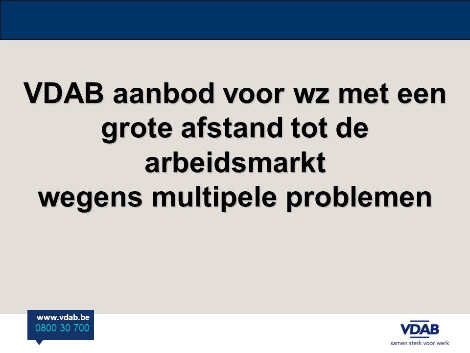 VDAB aanbod voor wz met een grote afstand tot de arbeidsmarkt wegens multipele problemen