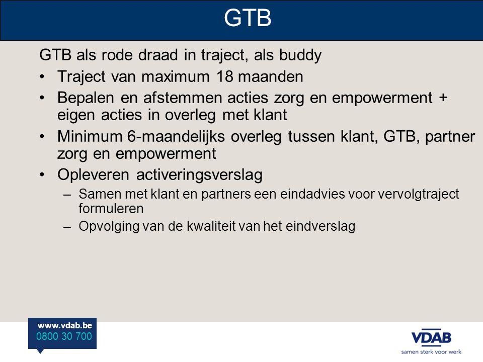 GTB GTB als rode draad in traject, als buddy