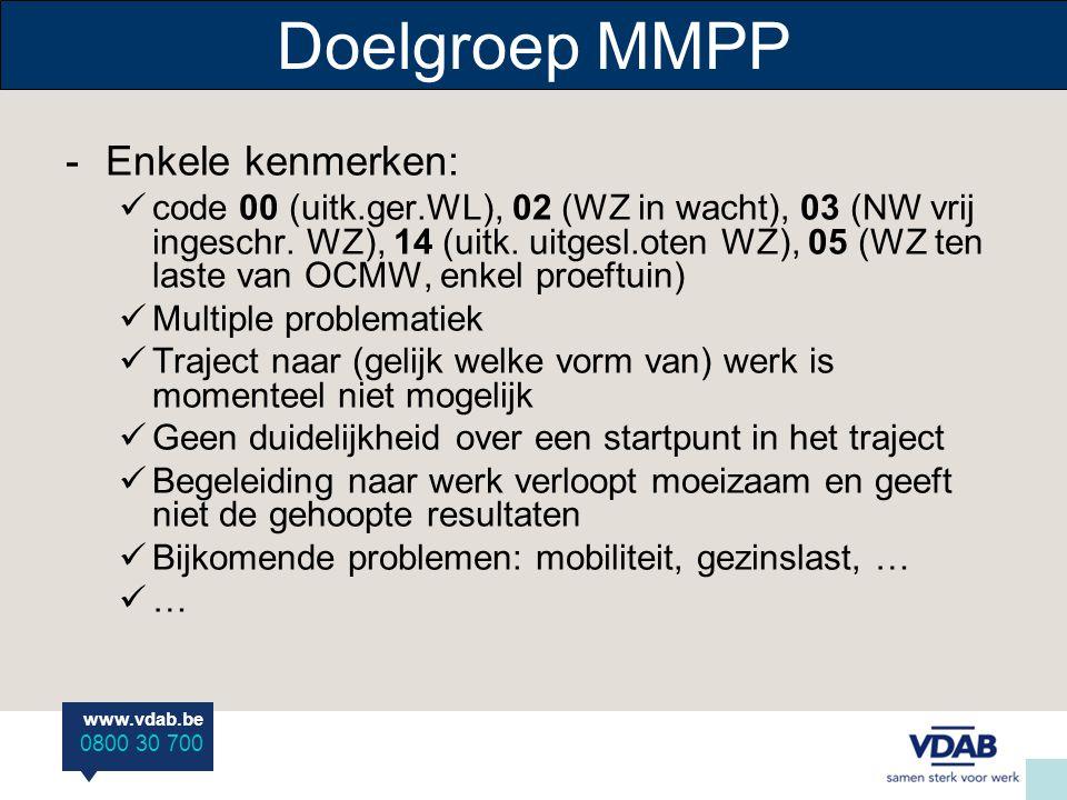 Doelgroep MMPP Enkele kenmerken: