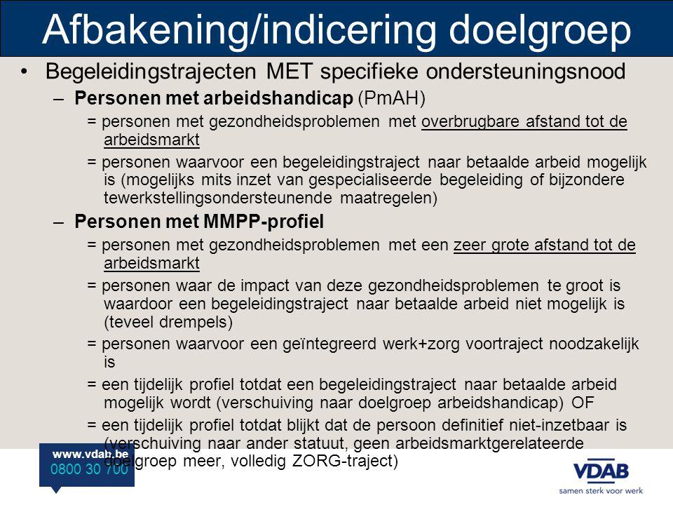 Afbakening/indicering doelgroep