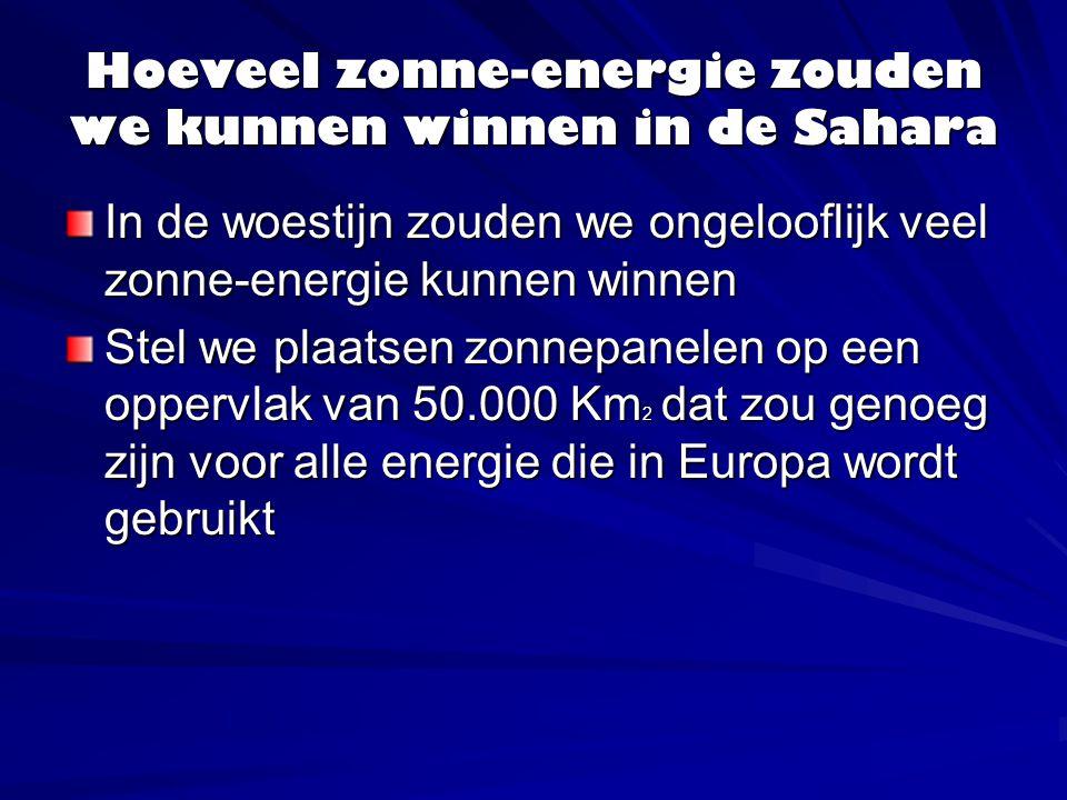Hoeveel zonne-energie zouden we kunnen winnen in de Sahara