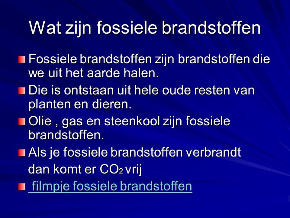 Wat zijn fossiele brandstoffen