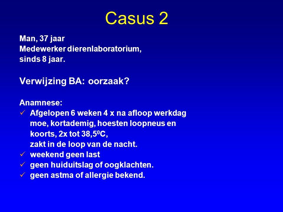 Casus 2 Verwijzing BA: oorzaak Man, 37 jaar