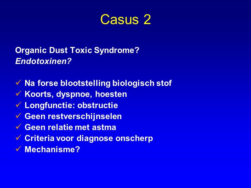 Casus 2 Organic Dust Toxic Syndrome Endotoxinen