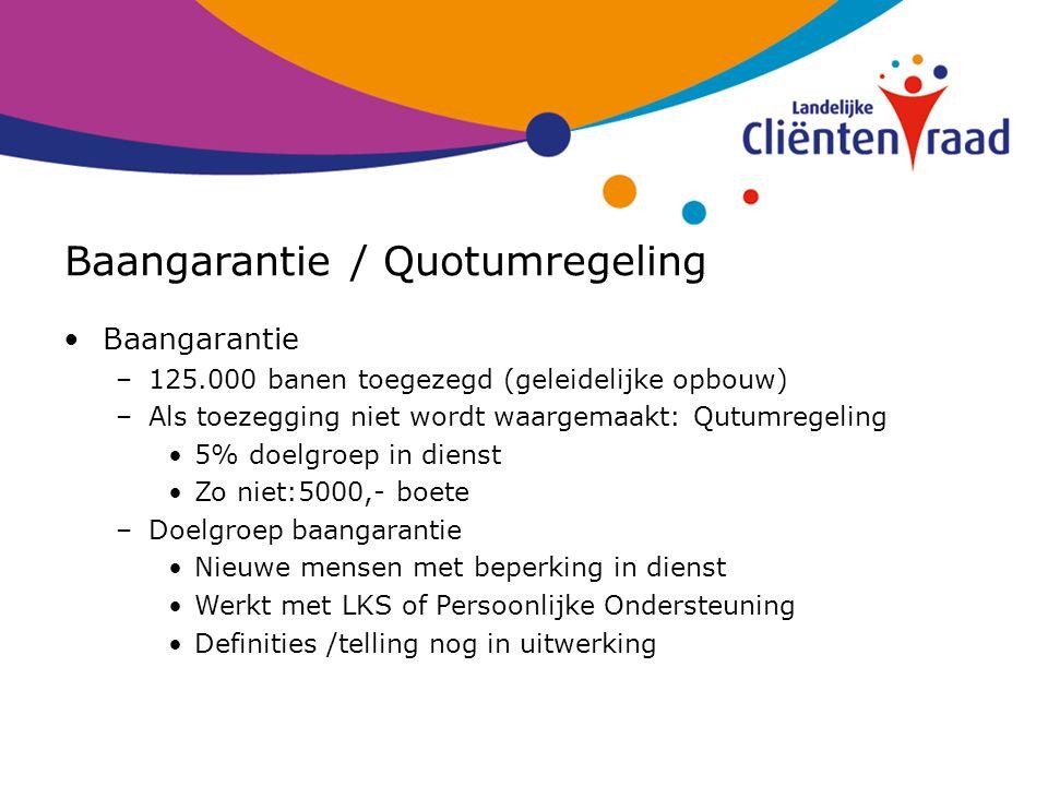 Baangarantie / Quotumregeling