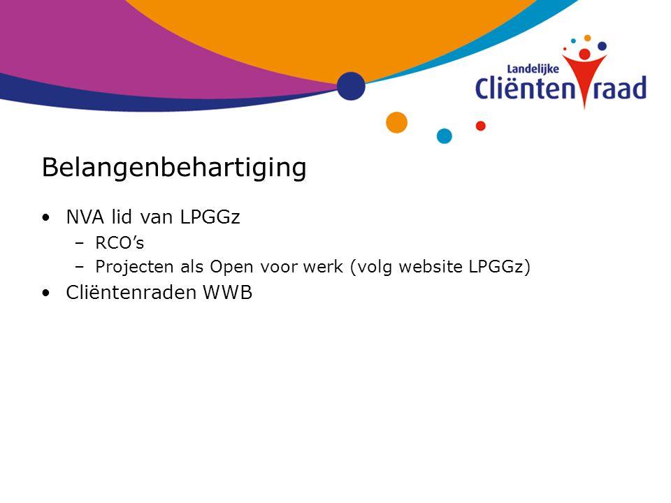Belangenbehartiging NVA lid van LPGGz Cliëntenraden WWB RCO's