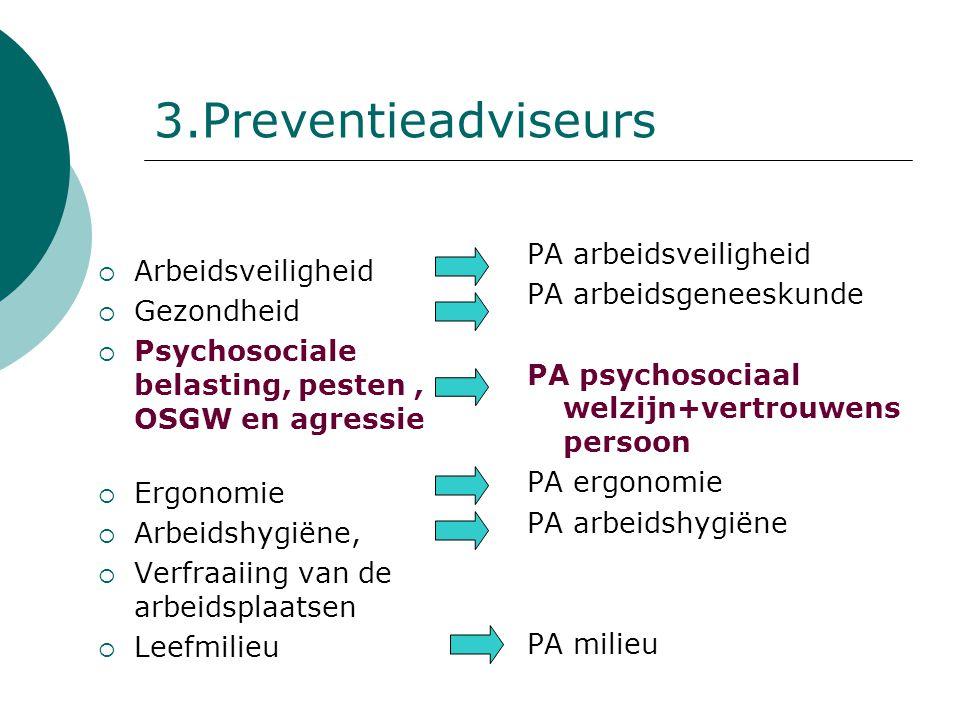 3.Preventieadviseurs PA arbeidsveiligheid PA arbeidsgeneeskunde