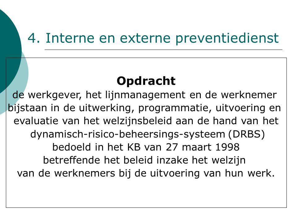 4. Interne en externe preventiedienst