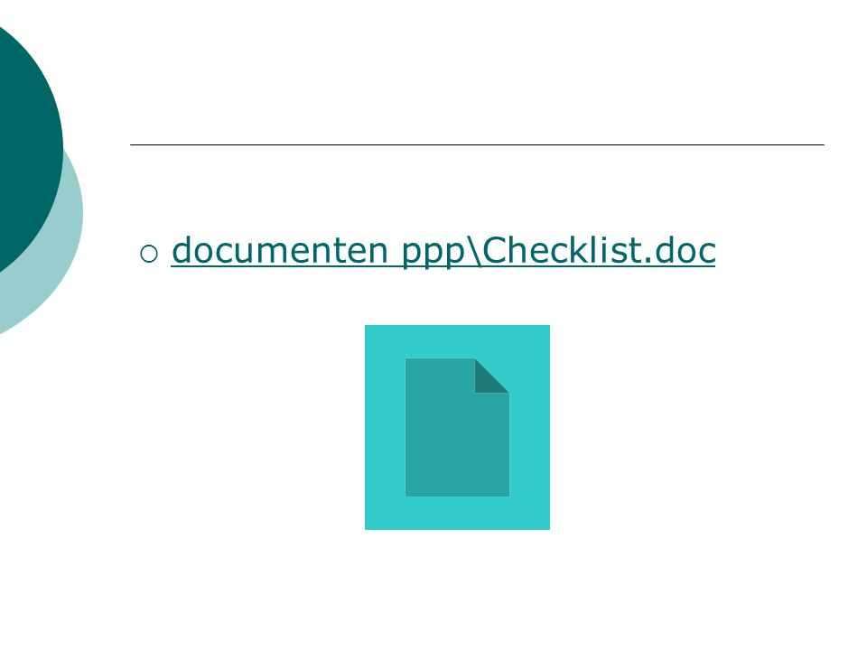 documenten ppp\Checklist.doc