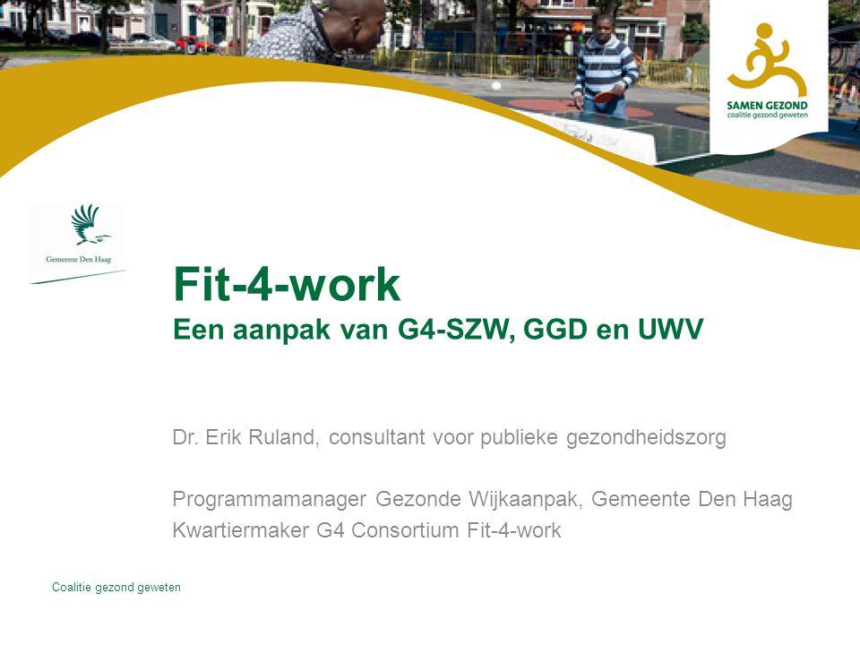 Fit-4-work Een aanpak van G4-SZW, GGD en UWV