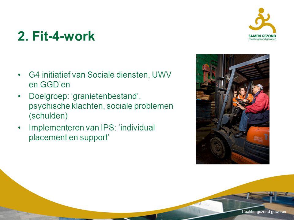 2. Fit-4-work G4 initiatief van Sociale diensten, UWV en GGD'en