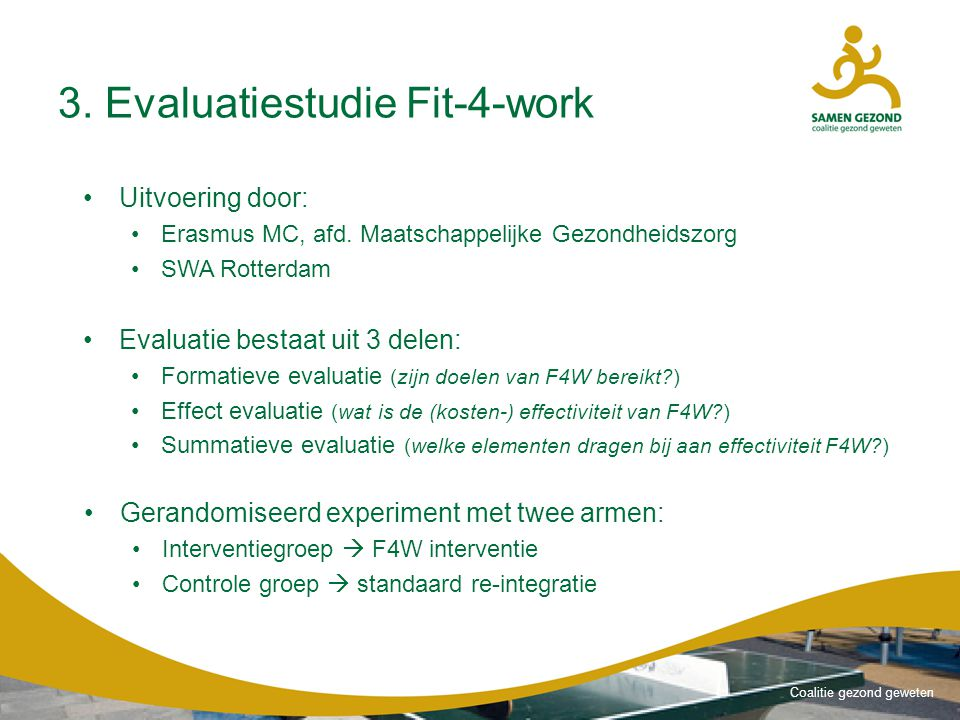 3. Evaluatiestudie Fit-4-work