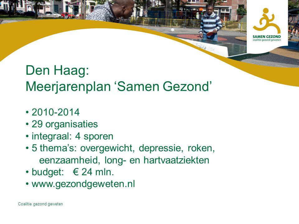 Den Haag: Meerjarenplan 'Samen Gezond'