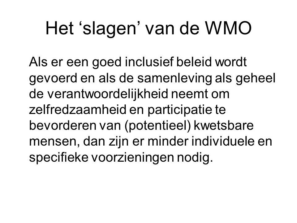 Het 'slagen' van de WMO