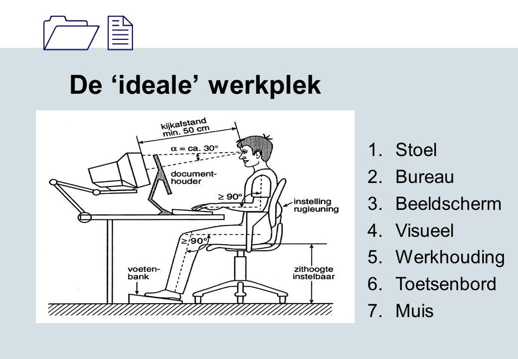 De 'ideale' werkplek Stoel Bureau Beeldscherm Visueel Werkhouding