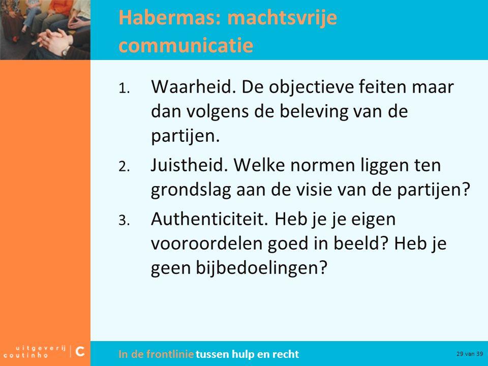 Habermas: machtsvrije communicatie