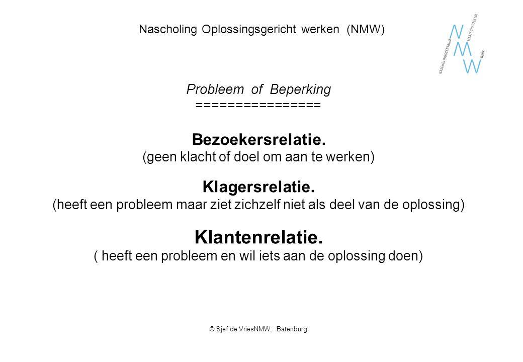 Nascholing Oplossingsgericht werken (NMW)