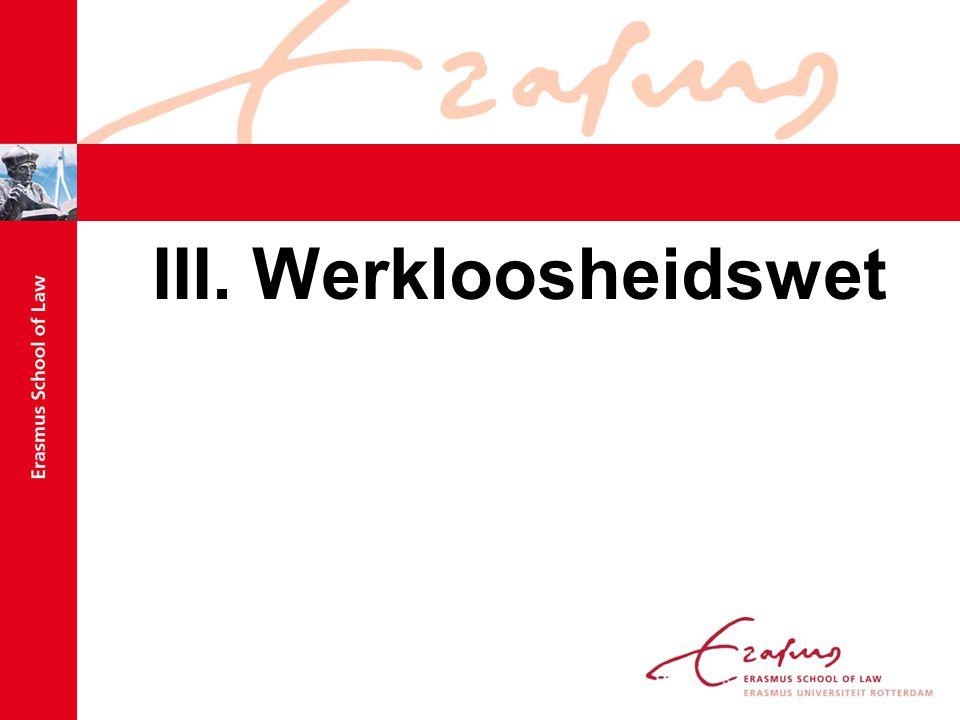 III. Werkloosheidswet