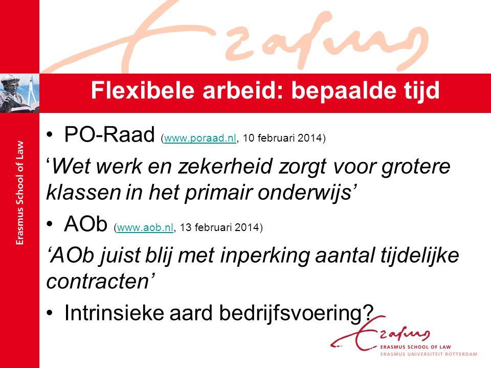Flexibele arbeid: bepaalde tijd