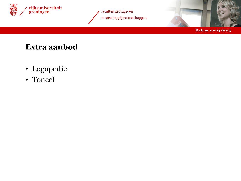 Extra aanbod Logopedie Toneel