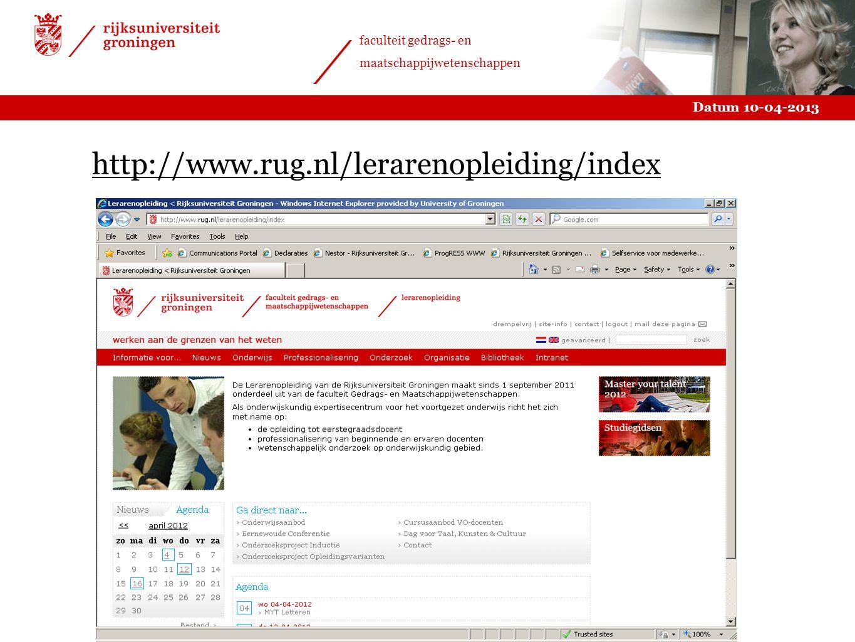 http://www.rug.nl/lerarenopleiding/index