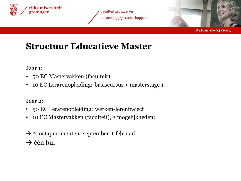 Structuur Educatieve Master