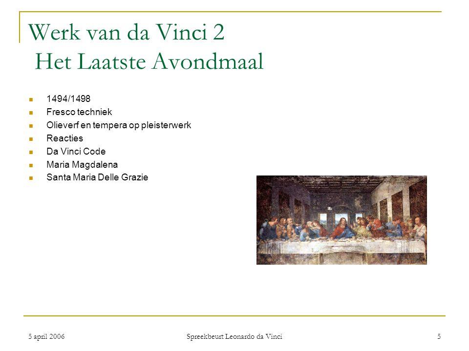 Werk van da Vinci 2 Het Laatste Avondmaal
