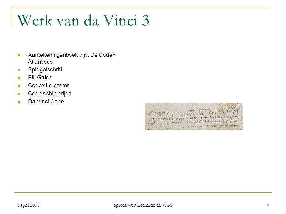 Spreekbeurt Leonardo da Vinci