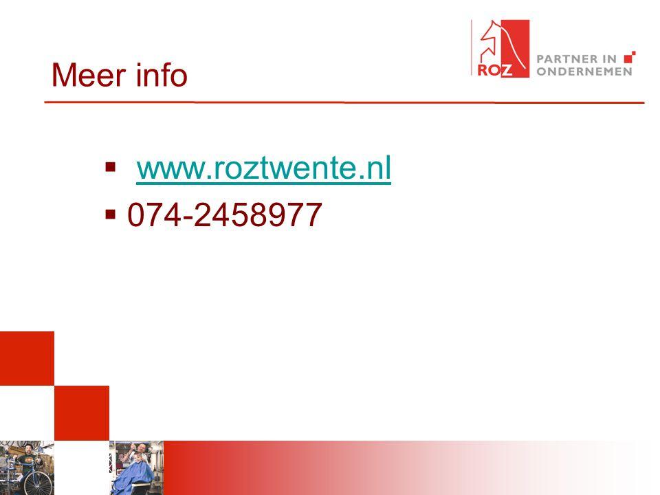 4-4-2017 Meer info www.roztwente.nl 074-2458977