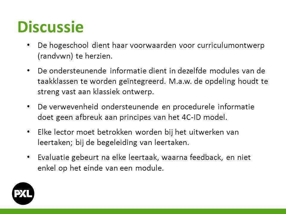 Discussie De hogeschool dient haar voorwaarden voor curriculumontwerp (randvwn) te herzien.