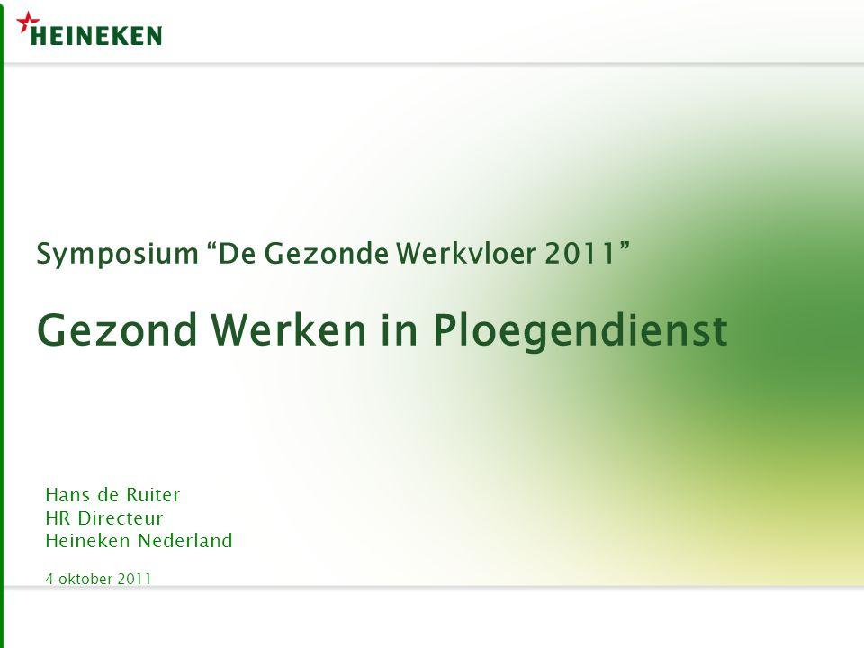 Symposium De Gezonde Werkvloer 2011 Gezond Werken in Ploegendienst