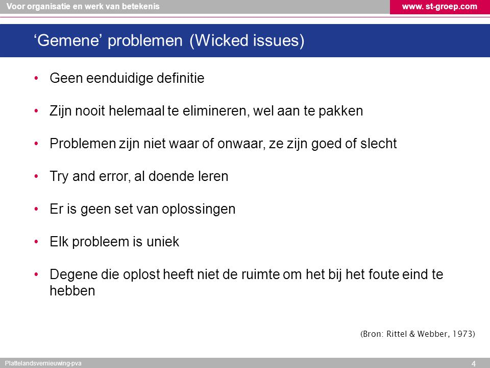 'Gemene' problemen (Wicked issues)